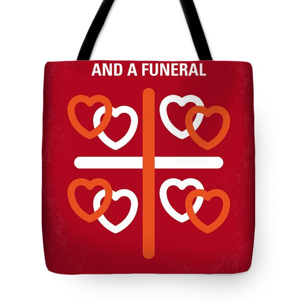 No259 My Four Weddings And A Funeral Minimal Movie Poster Tote Bag by Chungkong Art