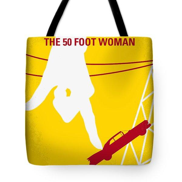 No276 My Attack Of The 50 Foot Woman Minimal Movie Poster Tote Bag by Chungkong Art