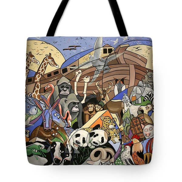 Noahs Ark Tote Bag by Anthony Falbo