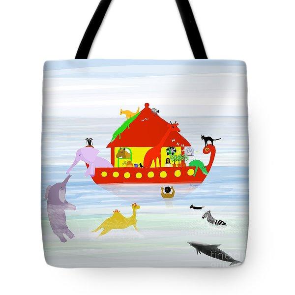 Noah's Ark Tote Bag by Barbara Moignard