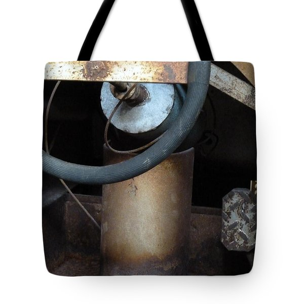 Nobody At The Controls Tote Bag by Newel Hunter