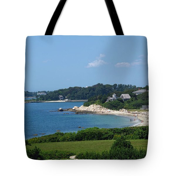 Nobska Beach Tote Bag by Barbara McDevitt