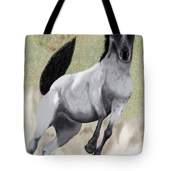Nokota Bronco Tote Bag by Jeanne Fischer