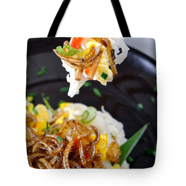 Noodles With Mealworms Tote Bag by Emilio Scoti