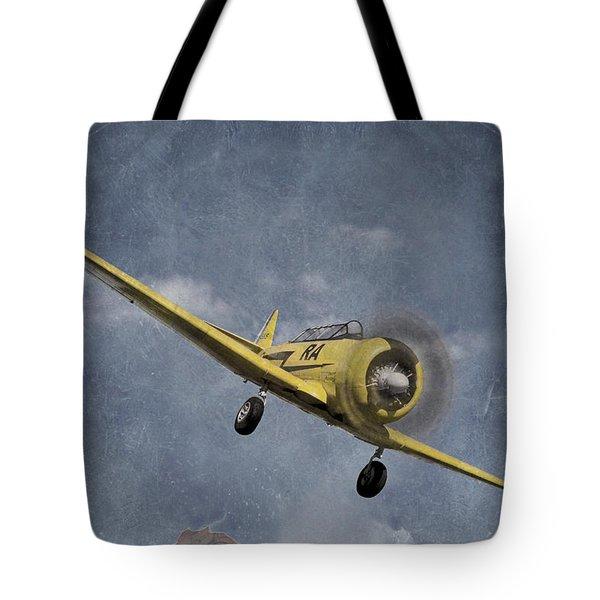 North American T6 Vintage Tote Bag by Debra and Dave Vanderlaan