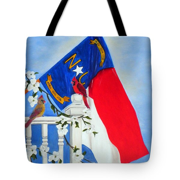 North Carolina - A State Of Art Tote Bag by Shelia Kempf