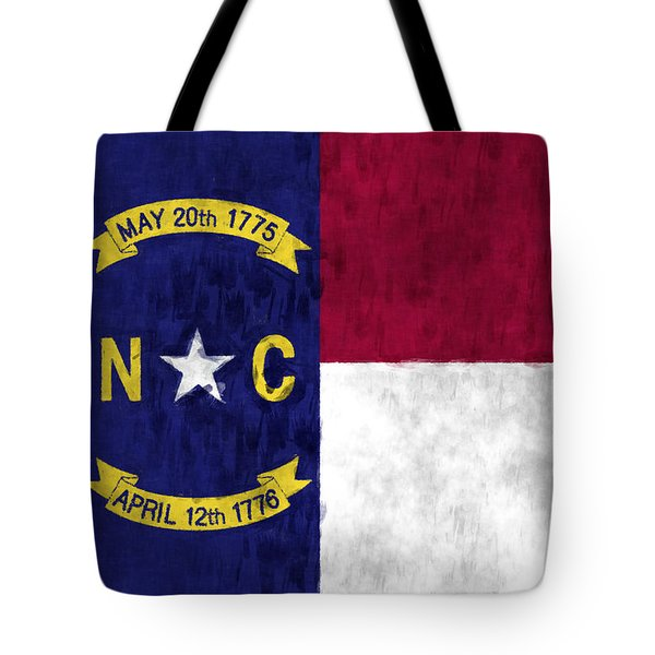 North Carolina Flag Tote Bag by World Art Prints And Designs