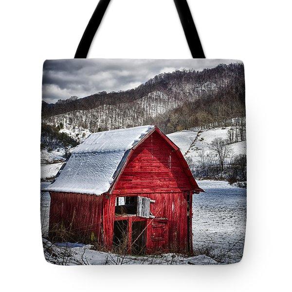 North Carolina Red Barn Tote Bag by John Haldane