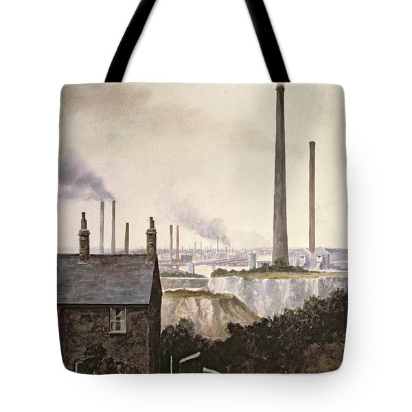 North Kent Landscape  Nr Northfleet Gravesend Tote Bag by Vic Trevett
