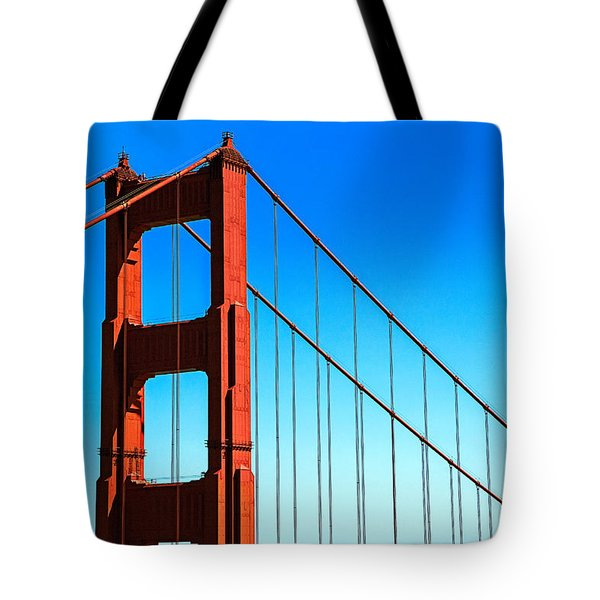 North Tower Golden Gate Tote Bag by Garry Gay