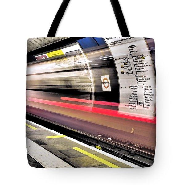 Northbound Underground Tote Bag by Rona Black