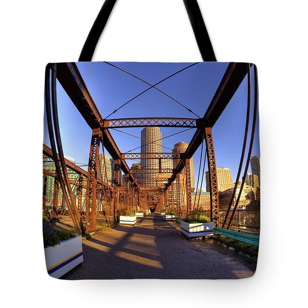 Northern Avenue Bridge Tote Bag by Joann Vitali