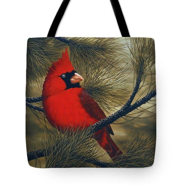 Northern Cardinal Tote Bag by Rick Bainbridge