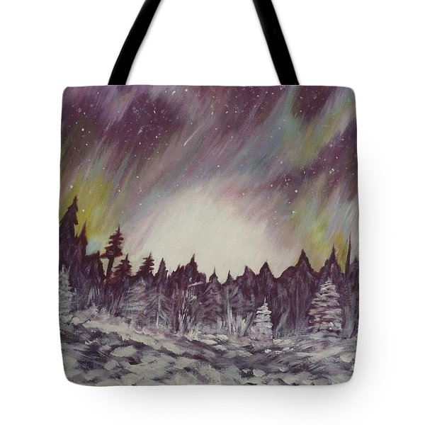 Northern Lights  Tote Bag by Irina Astley
