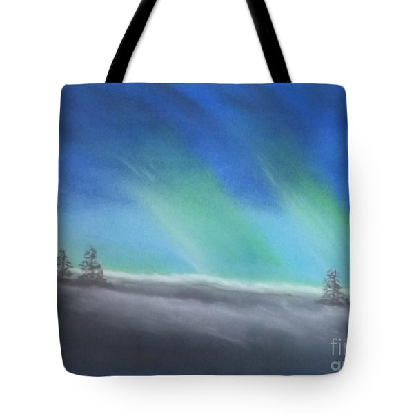 Northern Lights Tote Bag by Tracey Williams