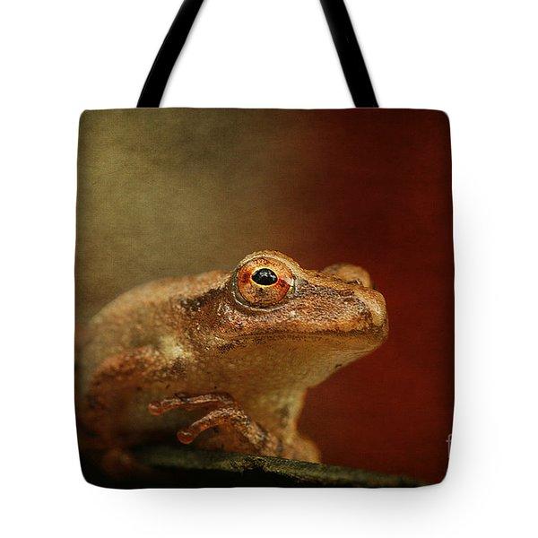 Northern Spring Peeper Tote Bag by Cindi Ressler