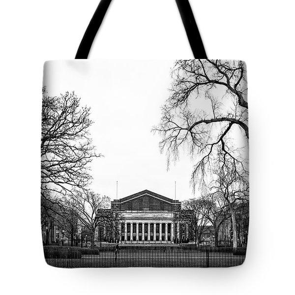 Northrop Auditorium At The University Of Minnesota Tote Bag by Tom Gort
