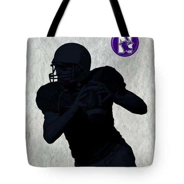 Northwestern Football Tote Bag by David Dehner