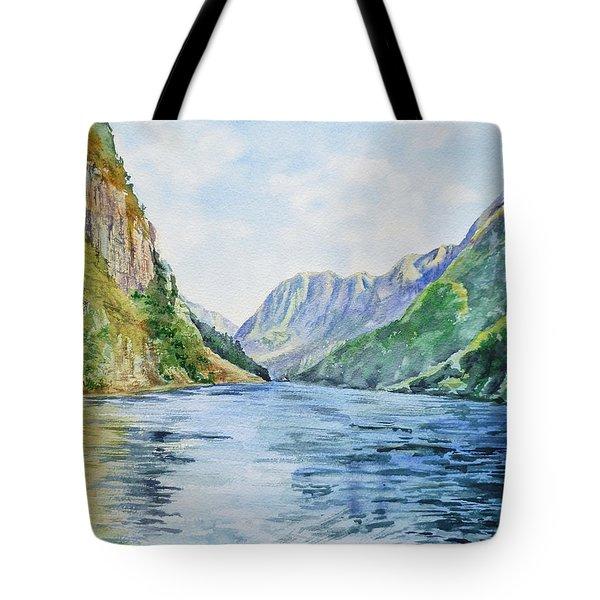 Norway Fjord Tote Bag by Irina Sztukowski