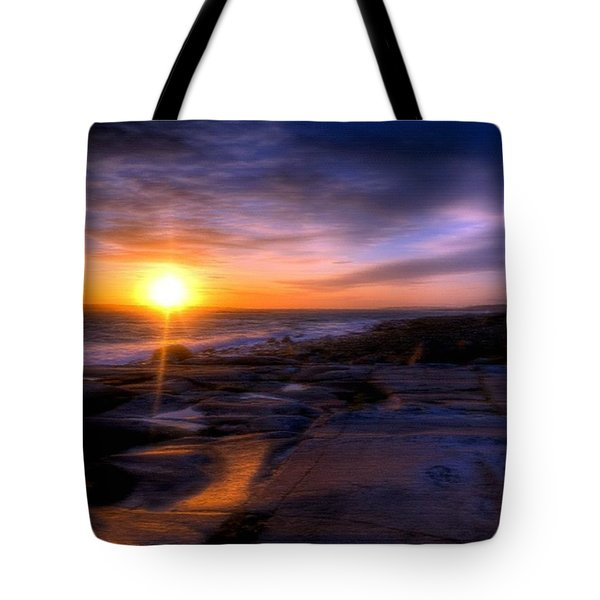 Norwegian Sunset Tote Bag by Bruce Nutting