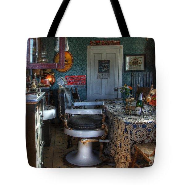 Nostalgia Barber Shop Tote Bag by Bob Christopher