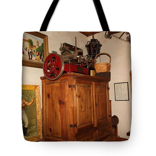 Nostalgic Corner In The Cellar Room At The Swiss Hotel In Sonoma California 5d24442 Tote Bag by Wingsdomain Art and Photography