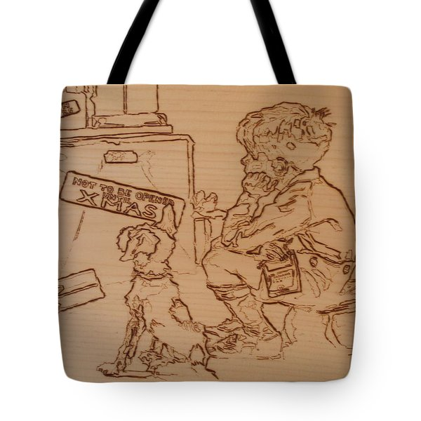 Not To Be Opened Until Christmas Tote Bag by Sean Connolly