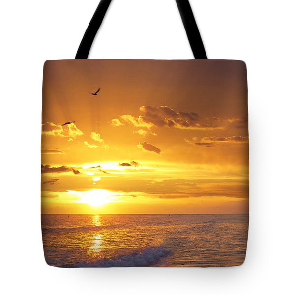 Not Yet - Sunset Art By Sharon Cummings Tote Bag by Sharon Cummings