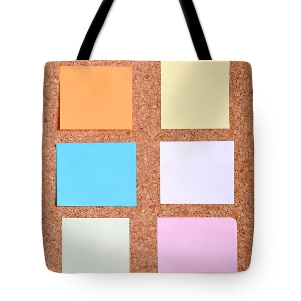 Notes On A Bulletin Board Tote Bag by Luis Alvarenga
