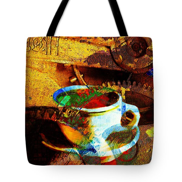 Nothing Like A Hot Cuppa Joe In The Morning To Get The Old Wheels Turning 20130718 Tote Bag by Wingsdomain Art and Photography