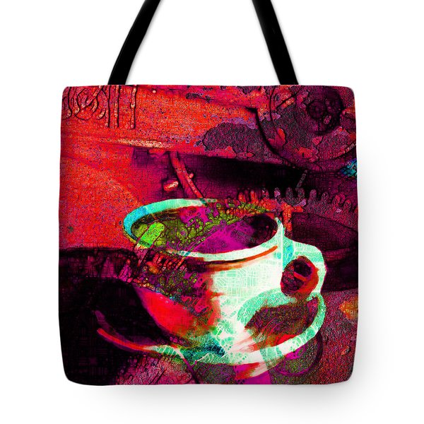 Nothing Like A Hot Cuppa Joe In The Morning To Get The Old Wheels Turning 20130718m43 Tote Bag by Wingsdomain Art and Photography