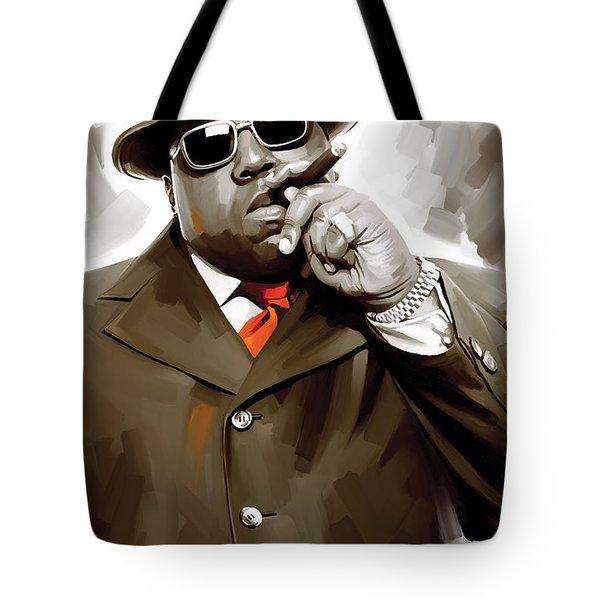 Notorious Big - Biggie Smalls Artwork 3 Tote Bag by Sheraz A