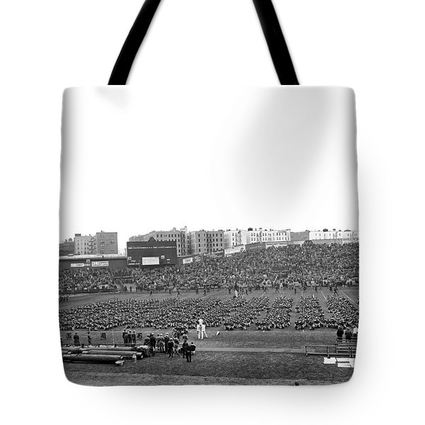Notre Dame-army Football Game Tote Bag by Underwood Archives