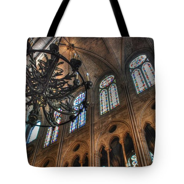 Notre Dame Interior Tote Bag by Jennifer Lyon