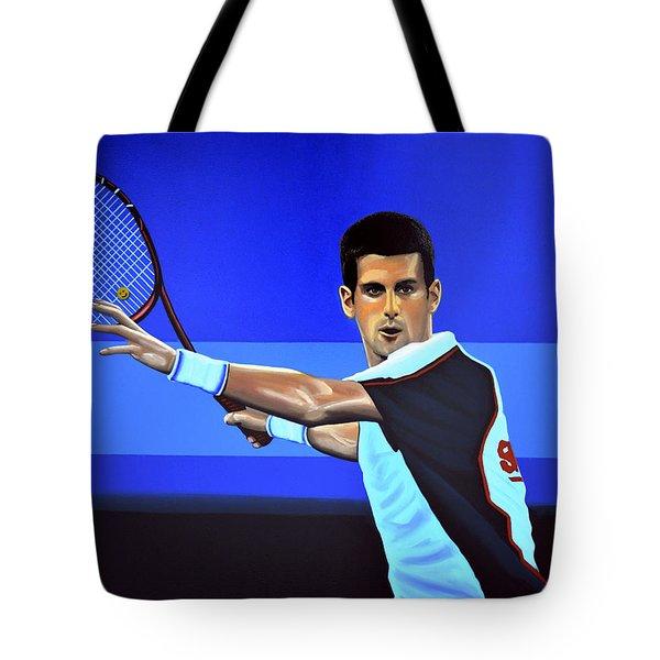 Novak Djokovic Tote Bag by Paul  Meijering