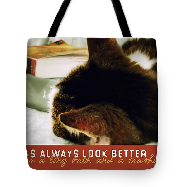 Novel Nap Quote Tote Bag by JAMART Photography