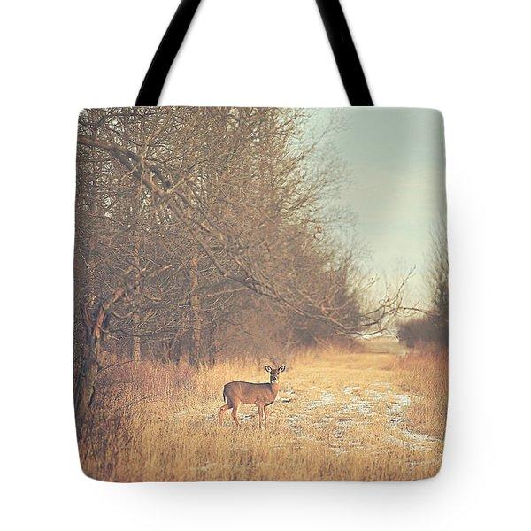 November Deer Tote Bag by Carrie Ann Grippo-Pike
