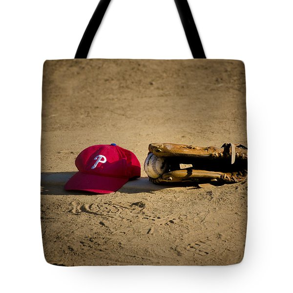 Now Pitching For The Phillies Tote Bag by Bill Cannon