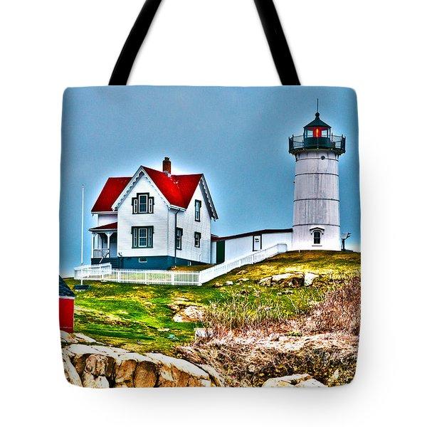 Nubble Lighthouse Cape Neddick Maine 2 Tote Bag by Glenn Gordon