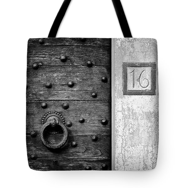 Number 16 Tote Bag by Dave Bowman