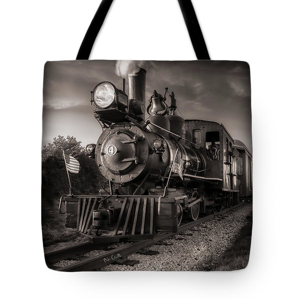 Number 4 Narrow Gauge Railroad Tote Bag by Bob Orsillo
