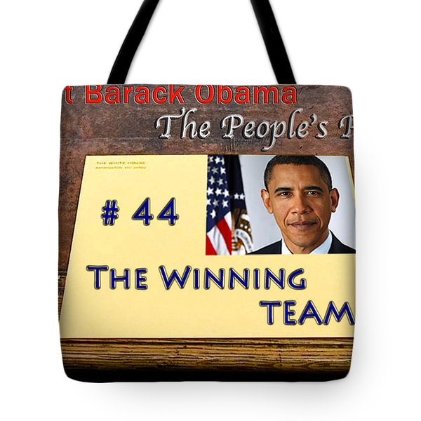 Number 44 - The Winning Team Tote Bag by Terry Wallace