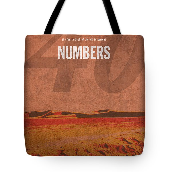Numbers Books of the Bible Series Old Testament Minimal Poster Art Number 4 Tote Bag by Design Turnpike