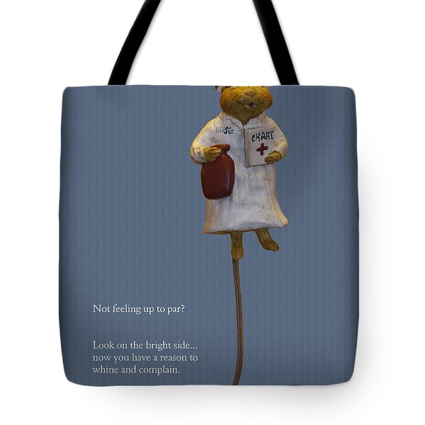 Nurse Mouse Tote Bag by Sally Weigand