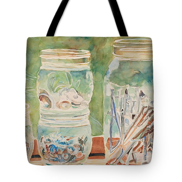 Nuts And Bolts Impression Tote Bag by Jenny Armitage