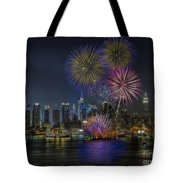 NYC Celebrates Fleet Week Tote Bag by Susan Candelario
