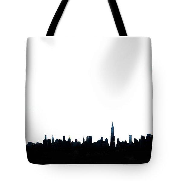Nyc Silhouette Tote Bag by Natasha Marco