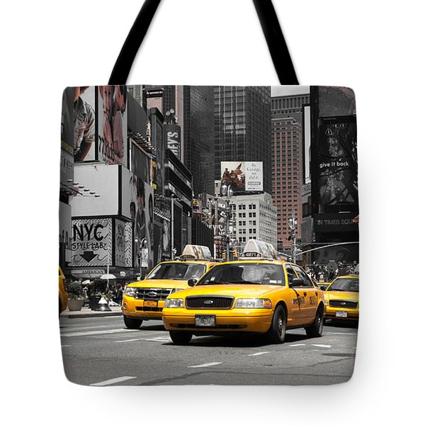 Nyc Yellow Cabs - Ck Tote Bag by Hannes Cmarits