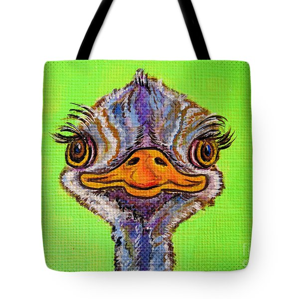 O For Ostrich Tote Bag by Ella Kaye Dickey