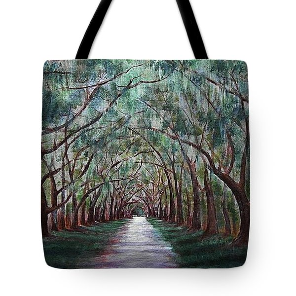 Oak Avenue Tote Bag by Anastasiya Malakhova